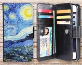 iphone 6s plus wallet case oil painting folio magnetic detachable leather cover for apple iphone 4 4s 5 5s 5c 6s plus ipod touch oilpainting