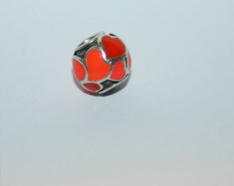 Authentic Genuine Pandora Sterling Silver Red Hot Love Heart Charm 790436ER  NEW