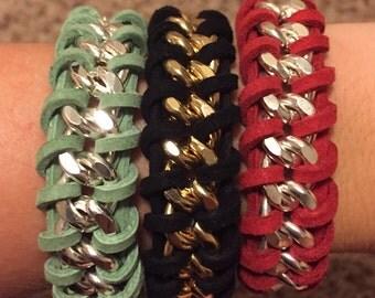 Suede Chain Bracelet