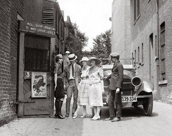 The Krazy Kat Speakeasy, 1921. Vintage Photo Digital Download. Black & White Photograph. Flappers, Prohibition, 1920s, 20s, Historical.