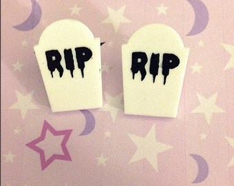 Adorable little tombstone post earrings