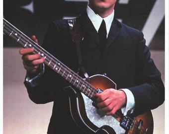 Paul McCartney Lucky Stars 1964 Beatles Rare Poster