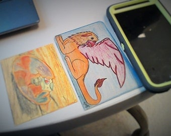 card sized drawings