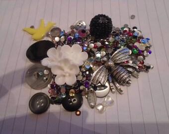 Silver garden Decoden / embellishment bundle