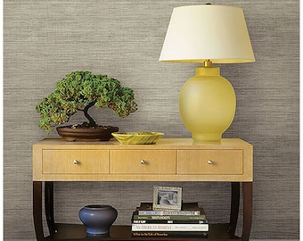 Woven Biege Grasscloth Wallpaper- FD23284