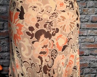 Vintage ELLIE TAHARI Floral Silk Maxi Skirt  Womens Size Small