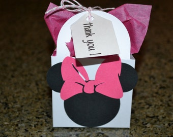 12 Minnie Mouse Inspired Party Favor Bag/Minnie Bag/Minnie Mouse Favor Bag/Minnie Mouse/Minnie Mouse Birthday Bag