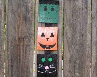 Halloween Wood Sign - Hanging Halloween Wood Sign - Halloween Hanging Wall Art - Halloween Wooden Sign - Halloween Hanging Wooden Sign