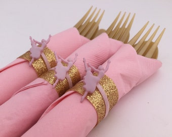 Ballerina Flatware: Disposable flatware with a Ballerina Charm