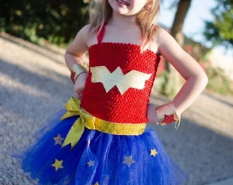 Wonder woman inspired tutu dress costume!!