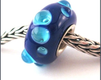 loversofbeads SRA artist handmade euro big hole - lampwork glass bead - lined with Sterling Silver - Made To Order - S367