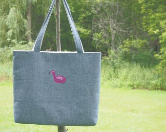 A Flamingo Tube Tote Bag