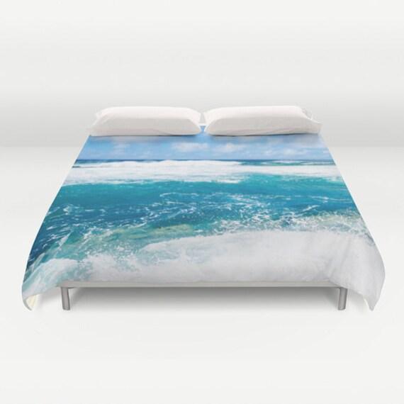 Ocean Wave Duvet Cover Water Bedding Cover Wave Blue Aqua