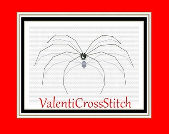Spider Cross Stitch Pattern-Counted -PDF- Modern- Patterns-