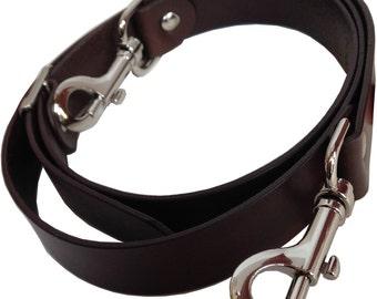 "1"" Wide Brown Genuine Top Grain Leather Replacement Adjustable Cross Body Purse Strap Handbag Bag"