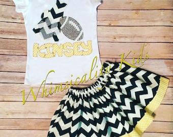 Girls School Spirit Skirt Set