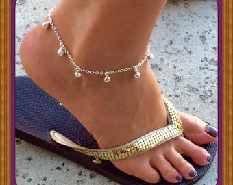 Sale! Jingle Bells Anklet Sterling Silver (Free Jewelry Gift Box)