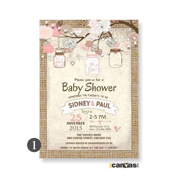 mason jar baby shower invites burlap rustic baby shower invite it 39 s