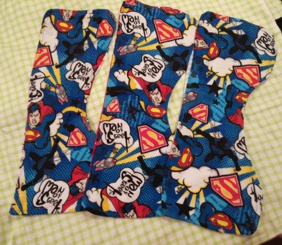 For your little Superhero burb cloths