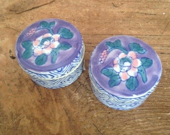 Pair of porcelaine pots