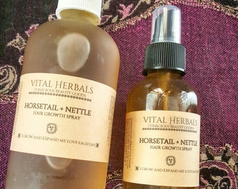 herbal hair growth spray . Organic hair growth spray. Nettle and horsetail hair spray, hair growth product