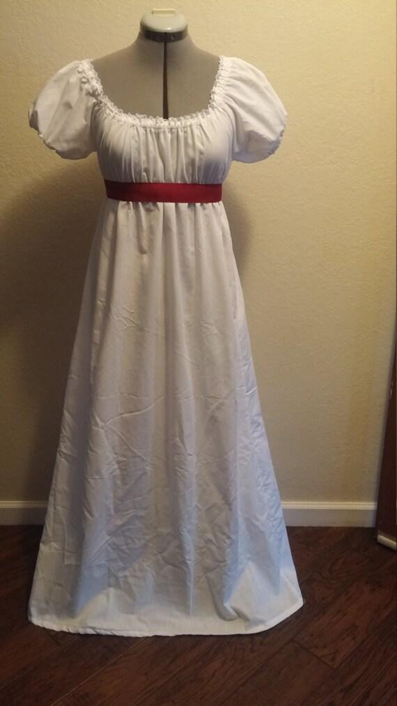 Jane Austen Regency Style Costume Dress 6 8 Women By