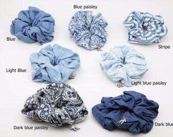 Cotton Denim Casual Hair Elastics Scrunchies Women Hair Accessories Free Shipping