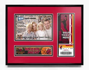 Miami Heat 5x7 Photo and Ticket Frame - Team Logo / My First Game