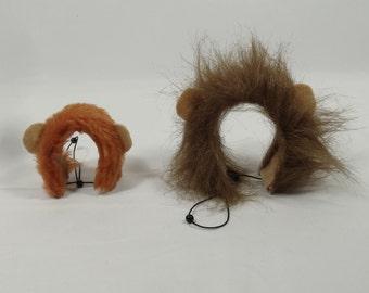 Lion dark main halloween costume for small pet Hedgehog Vogue Guinea Pig Ferret small animals made by Pinkismart