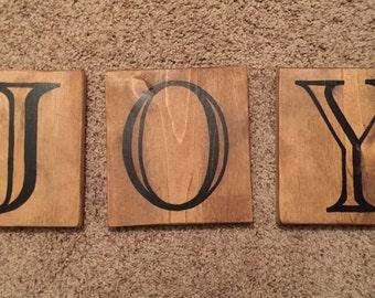 3 Piece Joy Sign
