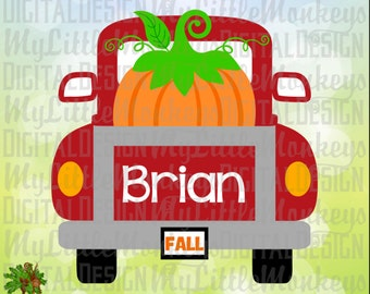 Pumpkin SVG ~ Vintage Truck SVG ~ Truck with Pumpkin ~ Fall svg ~ Truck svg ~ Autumn svg ~ Commercial Use SVG Clipart ~ Cut File eps dxf png