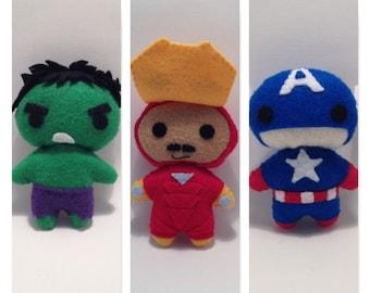 Felt Avengers Chibis
