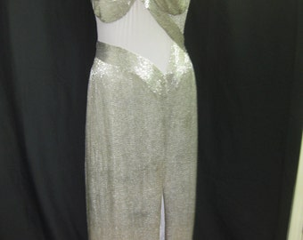 Silver long gown #34