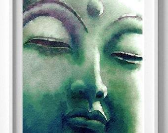 Yoga Watercolor Print, Home Decor, Buddha watercolor, Buddha art, Yoga art,Pic no 88