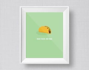Taco Art Print | Kitchen Art Print | Office Art Print | Food Art Print