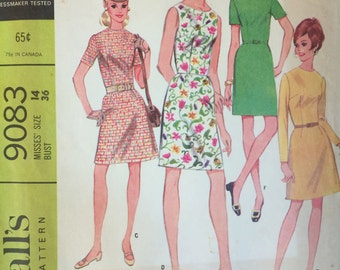 Misses'  A-Line Dress Pattern McCalls 9083