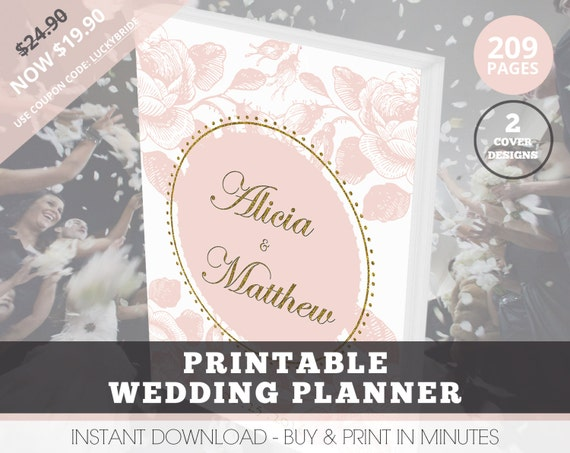 Printable Wedding Planner Binder Planning A Rustic: Wedding Planner Organizer, Printable Wedding Planner