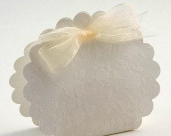DIY Wedding Favour Boxes Fiorami Scalloped edge
