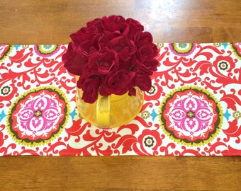 Red Table Runner 13x72 inches - Valentines Runner~Red  Runner - Table  Decor - Red Table Runner- LINED/UNLINED