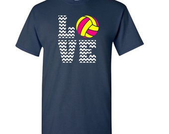 Chevron Love Volleyball T-shirt - Volleyball T-shirt - Volleyball Player t-shirt