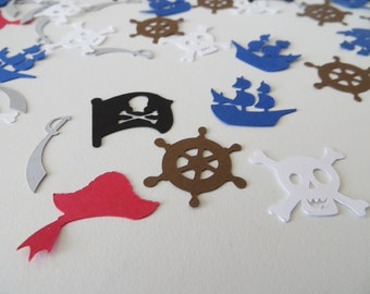 Pirate Confetti - Set of 150 - Handmade - Pirate Party - Table Confetti