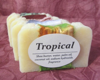 Tropical Soap- Handmade Soap- Homemade Soap