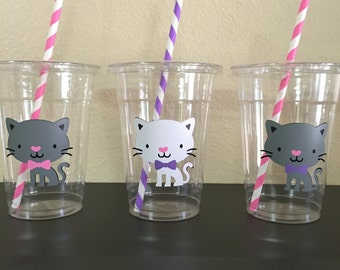 cat party cups, kitten party cups