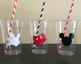 Mickey Party cups, Mickey birthday, Mickey Mouse party