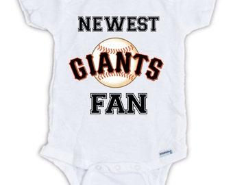 San Francisco GIANTS FAN Baby Onesie, Giants Baby Bodysuit, Giants Onesie, Great Baby Shower Gift, Baby Announcement, Baby Shower Gift