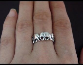 Elephants Family Ring