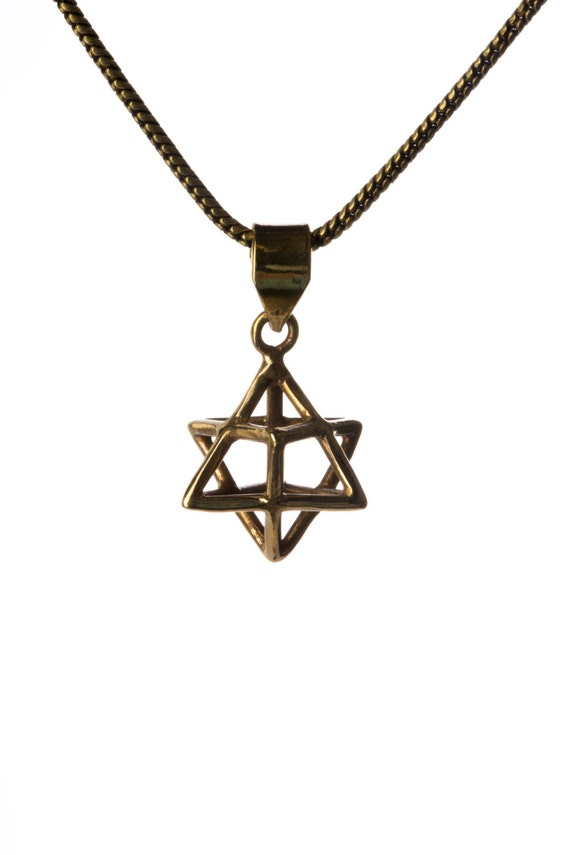 Merkaba Necklace Pendant Sacred geometry Kabbalah Jewelry Star of David 3d Seed of life  Handmade Free UK delivery BP3