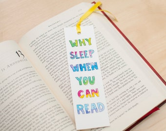 Reading, Book, Watercolor, Illustration, Bookmarks, cute bookmark, book lover gift, funny bookmark, book club gift, watercolor bookmark