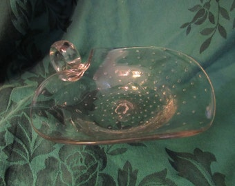 Controlled Bubble Glass Nappy Dish