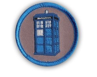 Dr. Who Tardis Police Box Time Machine Patrol Boy Scout Badge Cool Patch